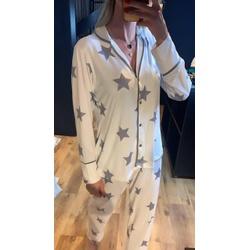 Pijama Nah Branco com Estrelas - L34 - DIVINA STORE