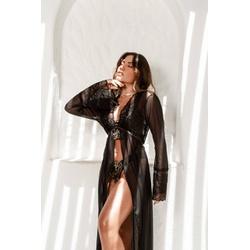 Robe Melissa Longo Preto - C551 - DIVINA STORE