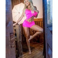 Shortdoll Bella Pink Neon - M607 - DIVINA STORE