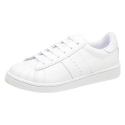 Tênis branco couro Donna Clô - 6301J - DONNACLO