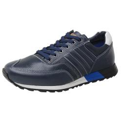 Sapatênis SAULLO Jogging Couro Azul/Off White - 53... - DONNACLO