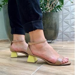 Sandália salto assimétrico Donna Clô - 3899.67673... - DONNACLO