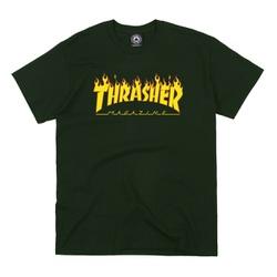 Camiseta Thrasher Flame Logo Green - 2115 - DREAMSSKATESHOP