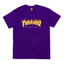Camiseta Thrasher Flame Logo Purple - 2115 - DREAMSSKATESHOP