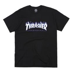 Camiseta Thrasher Flame Logo Sky Black - 3250 - DREAMSSKATESHOP
