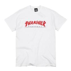 Camiseta Thrasher Godzila White - 2684 - DREAMSSKATESHOP