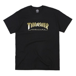 Camiseta Thrasher Gold Foil Mag Logo Black - 3178 - DREAMSSKATESHOP