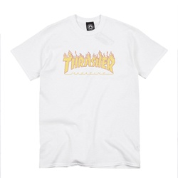 Camiseta Thrasher Halftone White - 2683 - DREAMSSKATESHOP