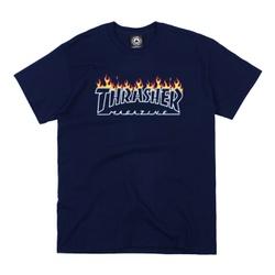 Camiseta Thrasher Scorched Navy - 3179 - DREAMSSKATESHOP