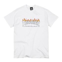 Camiseta Thrasher Scorched White - 3179 - DREAMSSKATESHOP