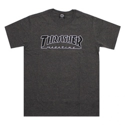 Camiseta Thrasher Outlined Chumbo - 2116 - DREAMSSKATESHOP