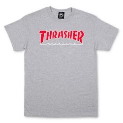 CAMISETA THRASHER OUTLINED GREY - 2116 - DREAMSSKATESHOP