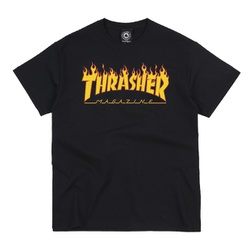Camiseta Thrasher Flame Logo Black - 2115 - DREAMSSKATESHOP