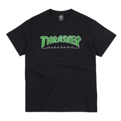 Camiseta Thrasher Outlined Black Green - 2116 - DREAMSSKATESHOP
