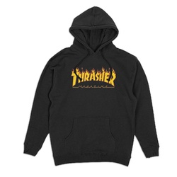Moletom Thrasher Flame Logo Black - 2686 - DREAMSSKATESHOP