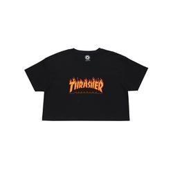 Camiseta Thrasher Feminina Flame Cropped - 3017 - DREAMSSKATESHOP