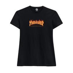 Camiseta Thrasher Feminina Flame Logo - 3021 - DREAMSSKATESHOP