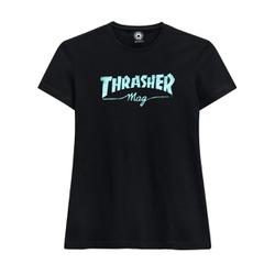 Camiseta Thrasher Feminina Mag Logo Black - 2306 - DREAMSSKATESHOP