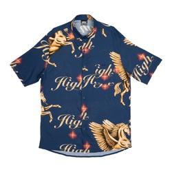 Button Shirt High Pegasus Navy - 3189 - DREAMSSKATESHOP