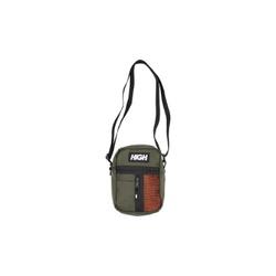 Shoulder bag Side Block High Olive Green Orange - ... - DREAMSSKATESHOP