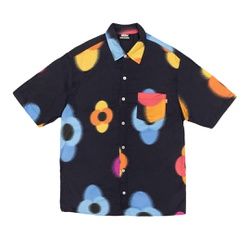 Button Shirt High Flowers Black - 3394 - DREAMSSKATESHOP
