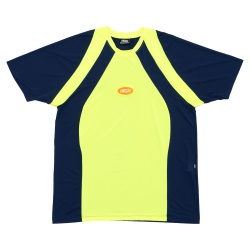 Dry Fit High Tee Lit Navy Lime - 2866 - DREAMSSKATESHOP