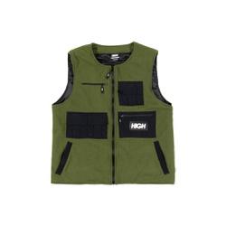 Fleece High Vest Green - 3477 - DREAMSSKATESHOP