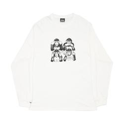 Longsleeve High Monkeys White - 2973 - DREAMSSKATESHOP