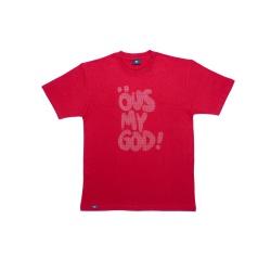 Camiseta ÖUS MY GOD Vermelho - 2765 - DREAMSSKATESHOP