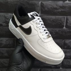 Nike Air Force 1 Branco e Preto - Air Force 1 Bran... - DROPSHOPONLINE