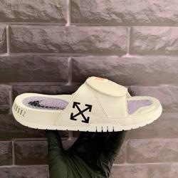 Chinelo Slide Jordan Hydro 11 Retrô Branco Off Whi... - DROPSHOPONLINE