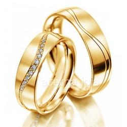 Aliança de Casamento e Noivado em Ouro 18K (PAR) 5... - ECOMMERCE IRROBA