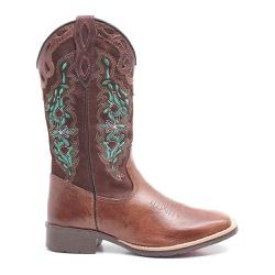 Bota Texana Feminina Dilley Fossil Marrom Café - ELITECOUNTRY