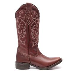Bota Texana Feminina Lawn Marrom - ELITECOUNTRY