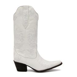 Bota Texana Feminina Calvert Branco - ELITECOUNTRY