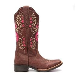 Bota Texana Feminina Cameron Marrom - ELITECOUNTRY