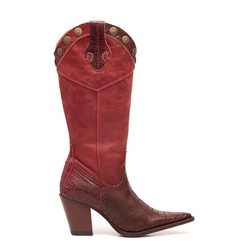 Bota Texana Feminina Iowa Vermelha - ELITECOUNTRY