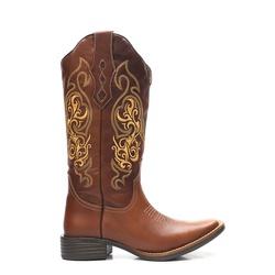 Bota Texana Feminina Marfa Marrom Whisky - ELITECOUNTRY