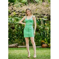 Cropped de Couro Feminino Verde - ELITE COURO