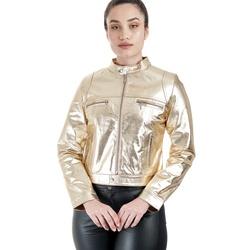 Jaqueta de Couro Feminina Dourada Cecília - ELITE COURO