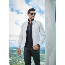 Jaqueta de Couro Masculina Branca Jack - ELITE COURO