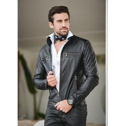 Jaqueta de Couro Masculina Preta Viny - ELITE COURO