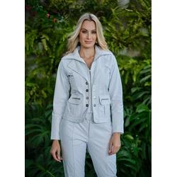 Jaqueta de Couro Feminina Branca Amy - ELITE COURO