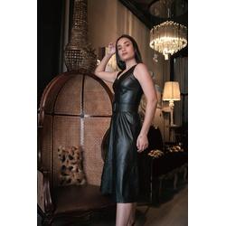 Vestido de Couro Feminino Preto Valentina - ELITE COURO