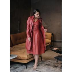 Vestido de Couro Feminino Vermelho Valentina - ELITE COURO