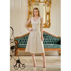 Vestido de Couro Feminino Off-White Valentina - ELITE COURO