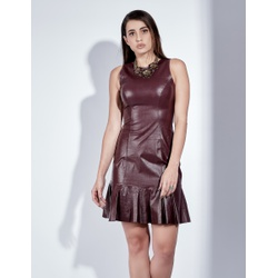 Vestido de Couro Feminino Uva Lívia - ELITE COURO