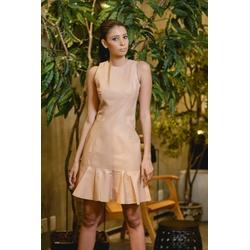 Vestido de Couro Feminino Nude Lívia - ELITE COURO