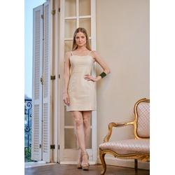 Vestido de Couro Feminino Off-White Késia - ELITE COURO