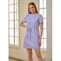 Vestido de Couro Lavanda Mirela - ELITE COURO